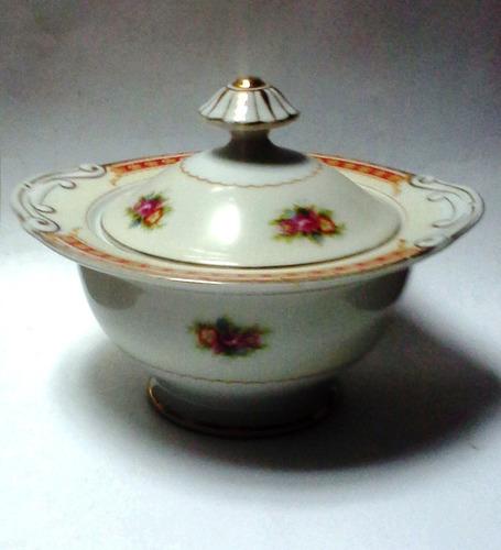 bowl con tapa porcelana 1946 occupied japan
