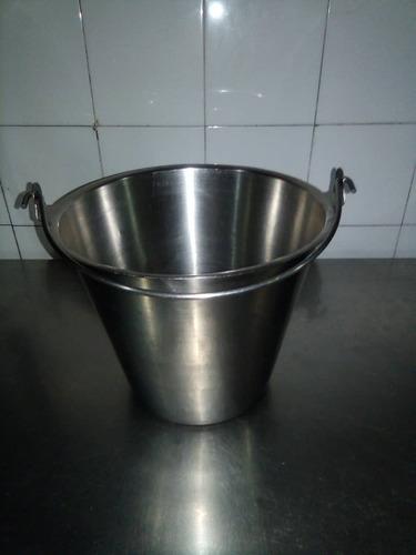 bowl de acero inoxidable con asa de 12 ltr. barcelona