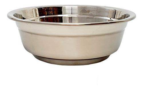 bowl de acero inoxidable reposteria bajo