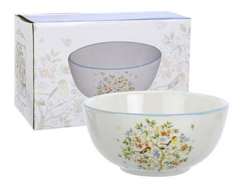 bowl de ceramica diseño arbol color celeste 850ml