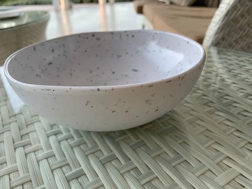 bowl de melamina terrazo x 4 unidades