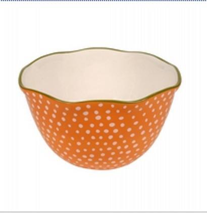 bowl ensaladera ceramica naranja vintage almacen de objetos