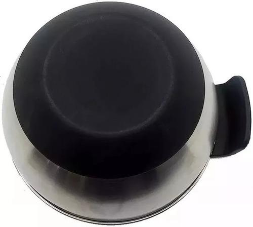 bowl hudson acero inox antideslizante 4 lt de 24 cm