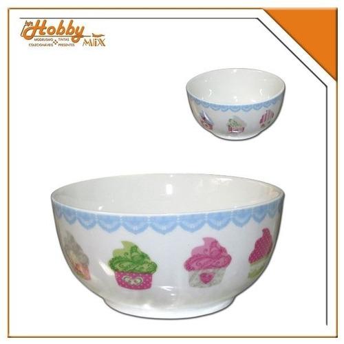bowl para cereais - cupcakes