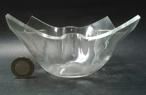 bowl pequeño acrílico pañuelo puntas levantadas