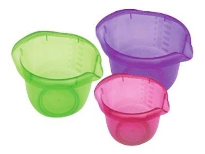 bowl trio 3 lts 12.5*21.5*25 traslucido verde y azul ue*50 p