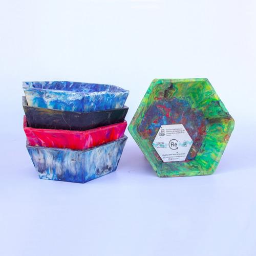 bowl y maceta de 100% plástico reciclado-diseño-sustentable