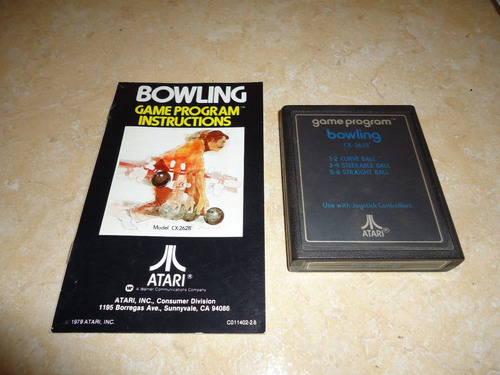 bowling + instructivo original atari 2600 +++