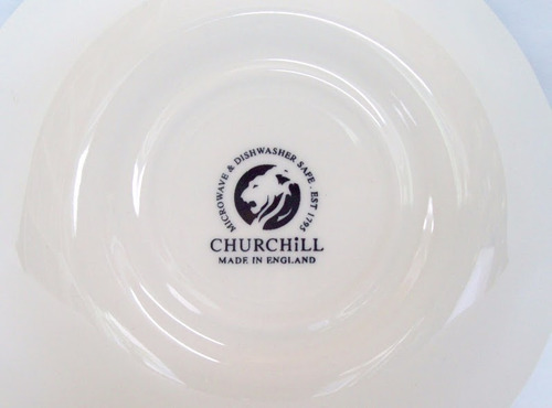 bowls compotera churchill england pattern tonquin blue c1960