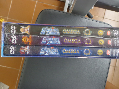 box 1 cavaleiros do zodiaco omega, 3 dvds lacrado - dvdsdf1