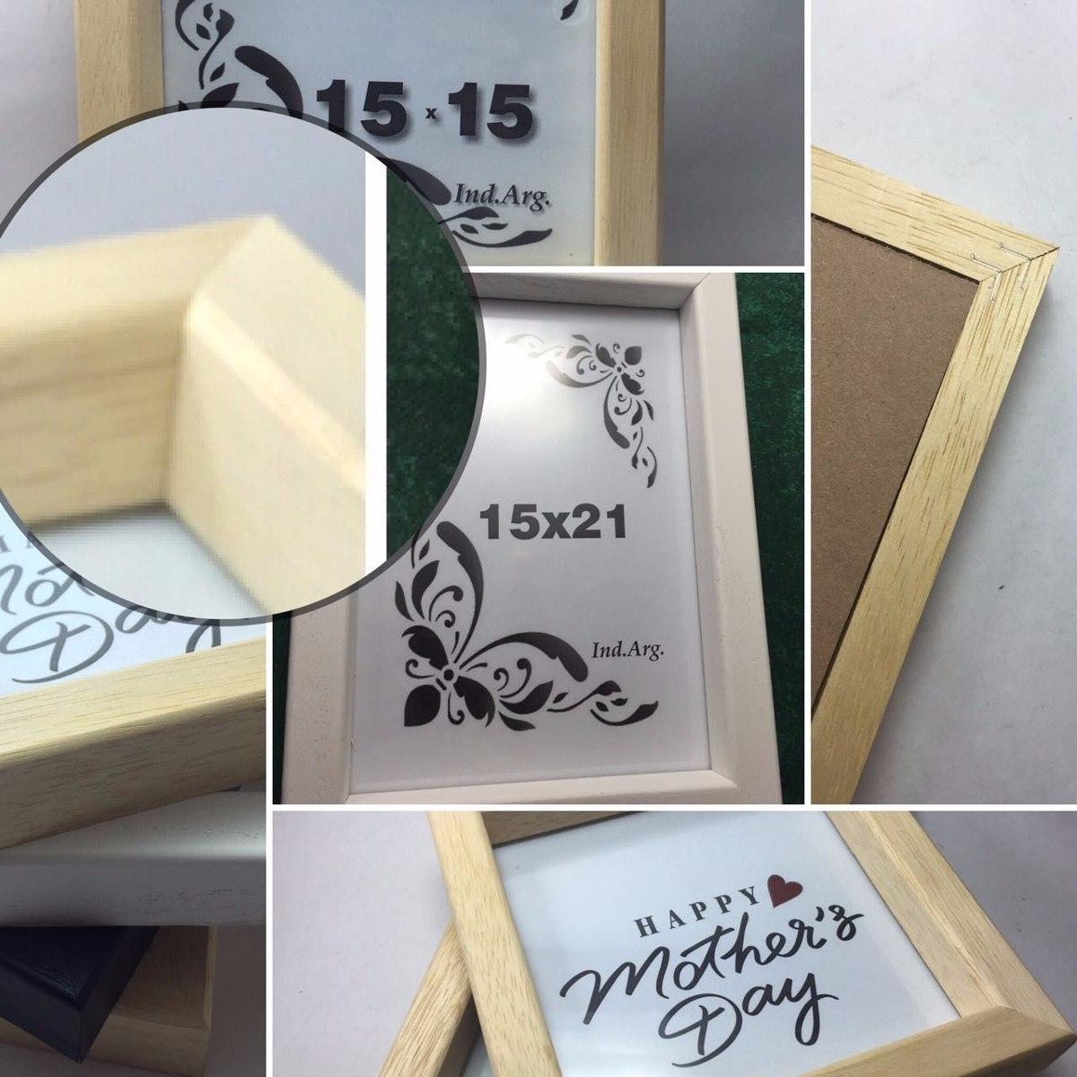 Box 10x15 Cajon Marco Cuadro Portarretrato Con Vidrio Madera - $ 72 ...