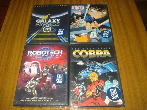 box 12 dvds originales de peliculas anime (nuevo y sellado