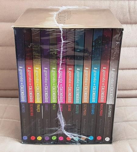 box 12 livros a garota do calendário coleção ( lacrado )