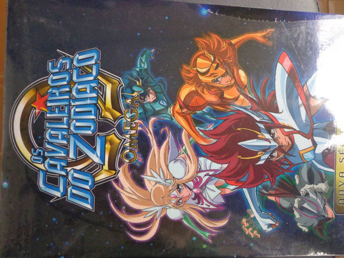 box 2 cavaleiros do zodiaco omega, 4 dvds lacrado - dvdsdf1