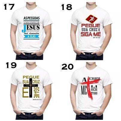 box 20 camisas masculino evangelicas com frases da biblia