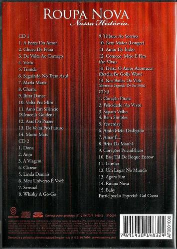 box 3 cds / roupa nova = minha história - 43 músicas