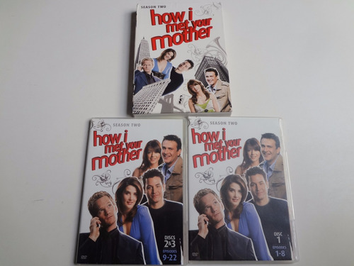 box 3 dvd's how i met your mother two season importado