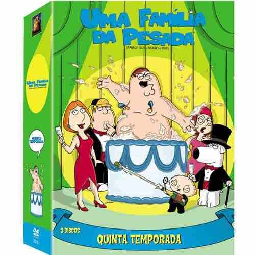 box 3 dvds uma família da pesada  5ª temp  lacrado