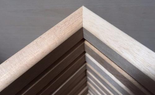 box 30x40 cajon marco cuadro portarretrato con vidrio madera