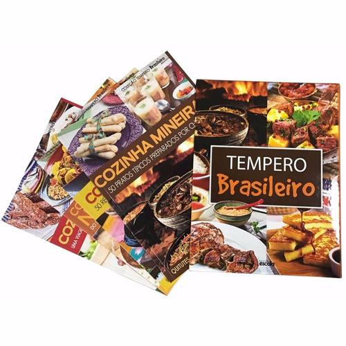 box 4 livros de receitas coleção tempero brasileiro