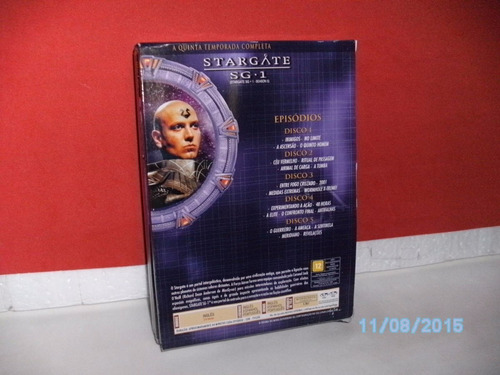 box 5 dvds- stargate sg.1 - 5ª temp. completa original