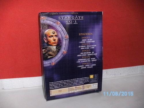 box 5 dvds- stargate sg.1 - 5ª temp. completa original- fj!