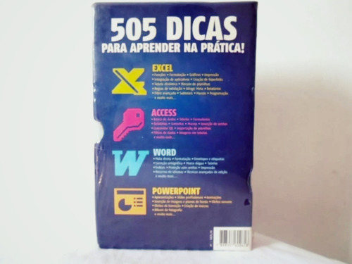 box 5 livros 505 dicas para excel, access powerpoint e word