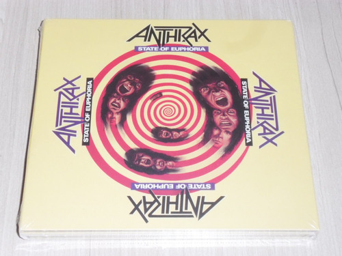 box anthrax - state of euphoria (alemão digipack deluxe 2 cd