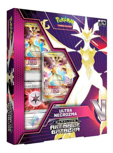 box arena de batalha - necrozma e rayquaza - pokémon tcg