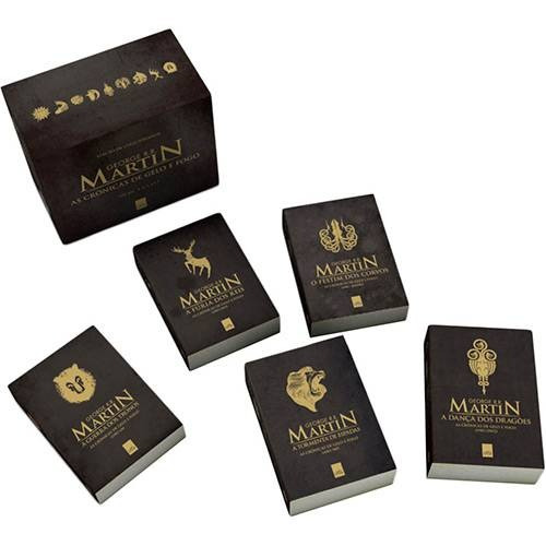 box as crônicas de gelo e fogo (5 livros) guerra dos tronos