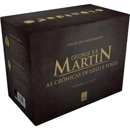box as crônicas de gelo e fogo - coleção completa- lacrado