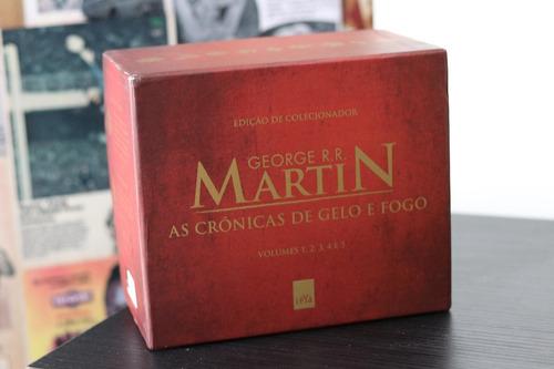box as crônicas de gelo e fogo - ed. pocket de colecionador