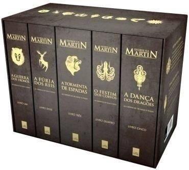 box as crônicas de gelo e fogo - game of thrones - 5 livros