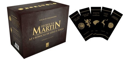 box as crônicas de gelo e fogo - guerra dos tronos 5 livros