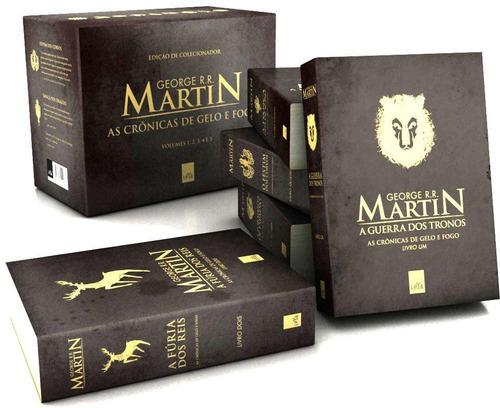box  as crônicas de gelo e fogo  pocket  5 livros