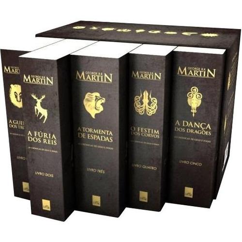 box  as crônicas de gelo e fogo  pocket  5 volumes