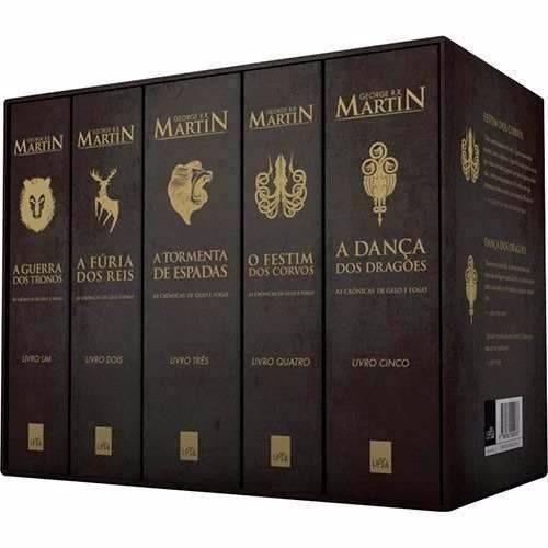 box as crônicas gelo e fogo ( 5 livros) - frete grátis