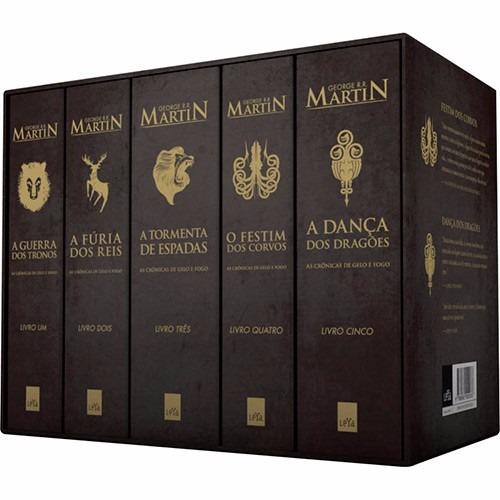 box as crônicas gelo e fogo - edição pocket (5 livros) #