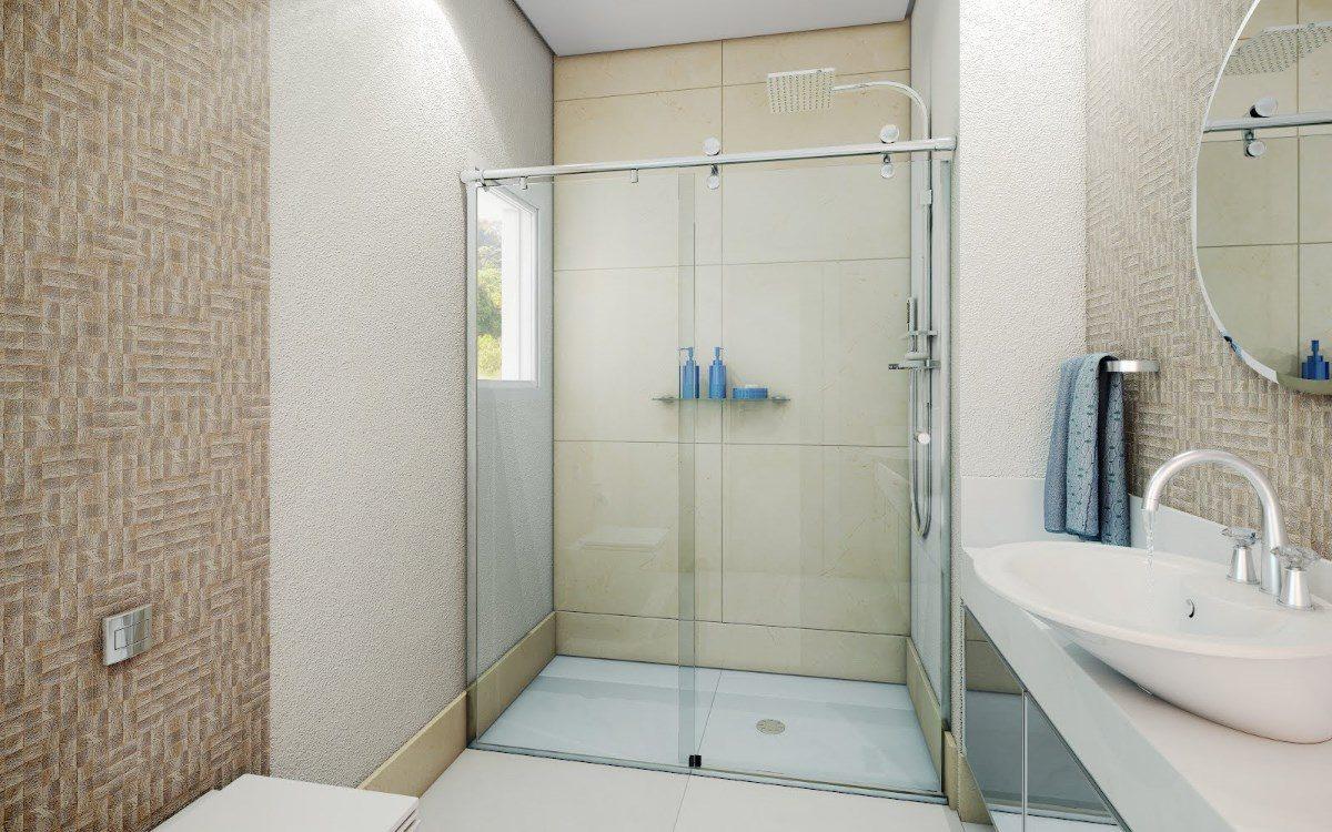 Box Banheiro Roldanas Aparentes Vidro Temperado Incolor 8 Mm  R$ 555,00 em M -> Box Para Banheiro Pequeno Mercado Livre