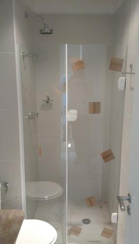 box banheiro, vidro temperado 8mm, incolor, (tipo blindex)*