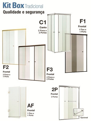 box banheiro vidro temperado incolor 8 mm campo belo região