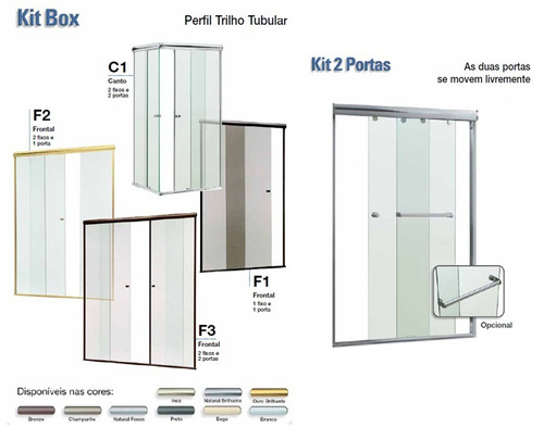 box banheiro vidro temperado incolor 8 mm jaguaré