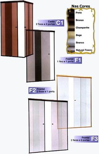box banheiro vidro temperado incolor 8 mm santana