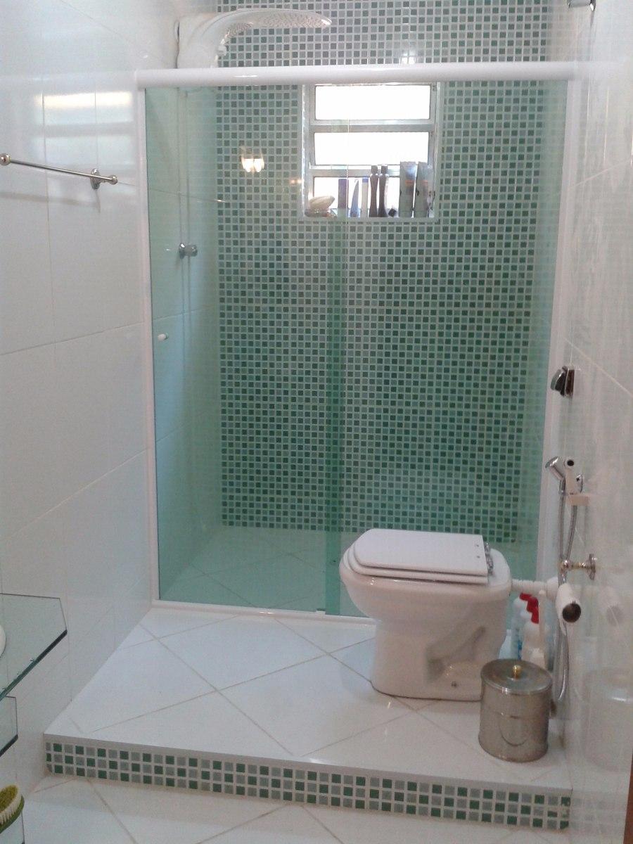 Box Banheiro Vidro Temperado Verde Instalado Frete Grátis!  R$ 88,83 em Mer -> Box Para Banheiro Pequeno Mercado Livre
