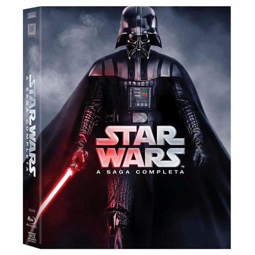 box blu-ray star wars a saga completa 9 discos original novo