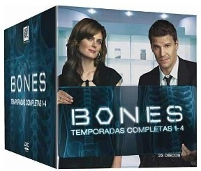 box bones 1ª à 4ª temporada 23 dvds - estado de novo