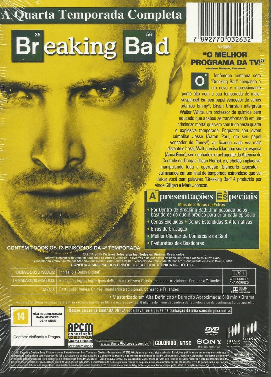 Box - Breaking Bad - Quarta Temporada - 4 Discos - Lacrado - R$ 29 ...