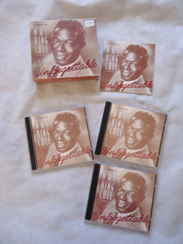 box c/ 05 cd's-o melhor de nat king cole unforgettable