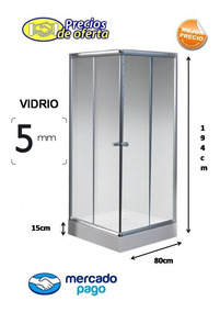 Receptaculo De Ducha Medidas.Box Cabina De Ducha 80x80 Cuadrada Vidrio 5mm Receptaculo