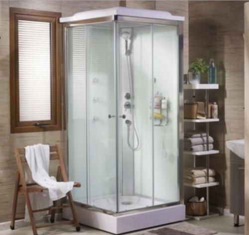 box, cabina ducha con columna escocesa cuadrada naffull